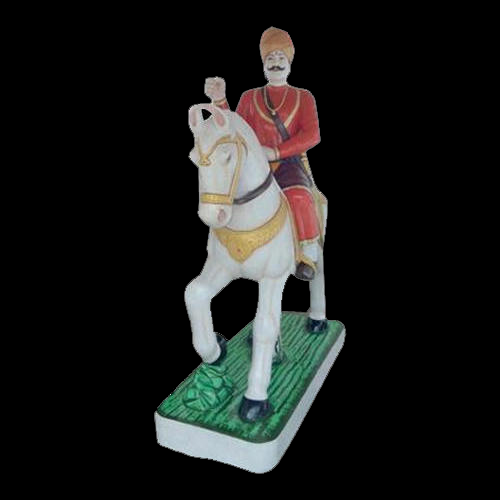 Marble Horse Rider Statue